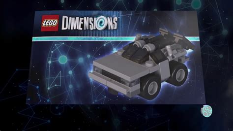 Lego Dimensions Marty McFly Instructions - DeLorean