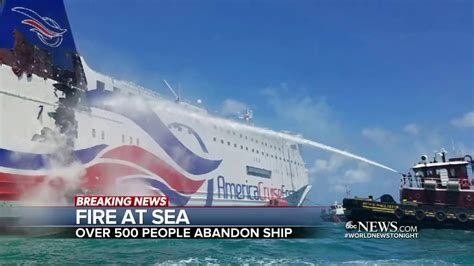 Ship with 500 Passengers Catches Fire - YouTube