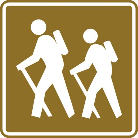 Hiking Tourist Sign Clip Art at Clker