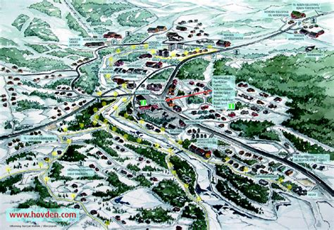 Hovden Town Map - Hovden Norway • mappery
