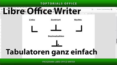 Tabulatoren ganz einfach (Libre Office Writer) - YouTube