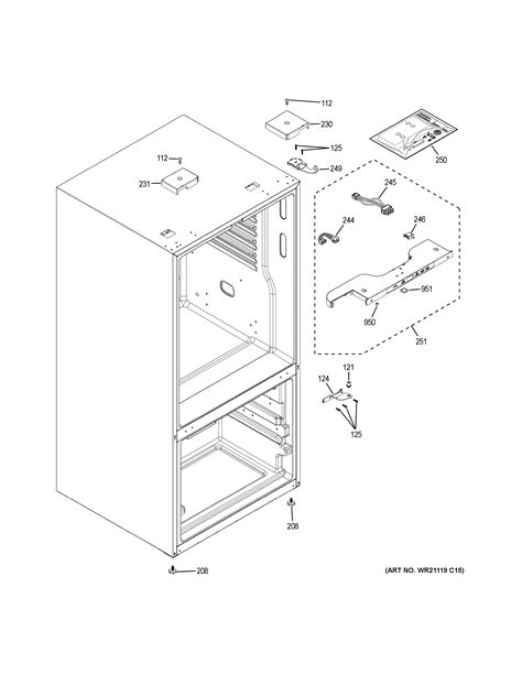 Assembly View for CASE PARTS | GDE25ESKARSS