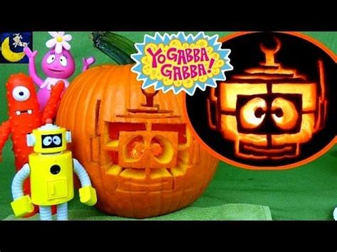 Yo Gabba Gabba Halloween SLIME Pumpkin Carving Kit Video
