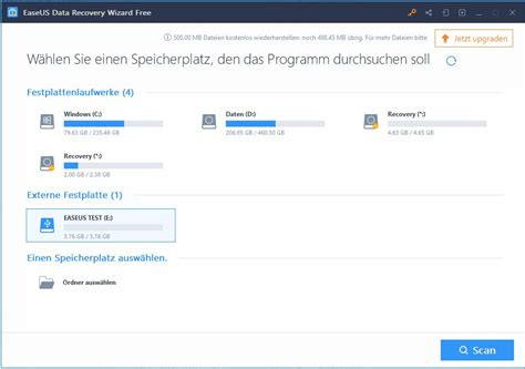 Datenrettung mit EaseUS Data Recovery Wizard Free – TASTE