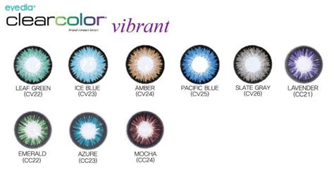 Eyedia Clearcolor Vibrant Contact Lenses 6 Pack