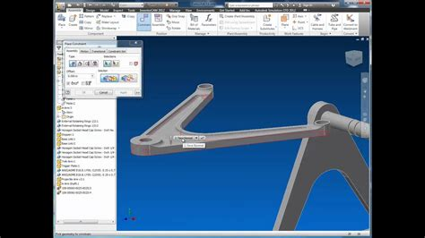 Autodesk Inventor 2012 - Assembly Constraints - YouTube
