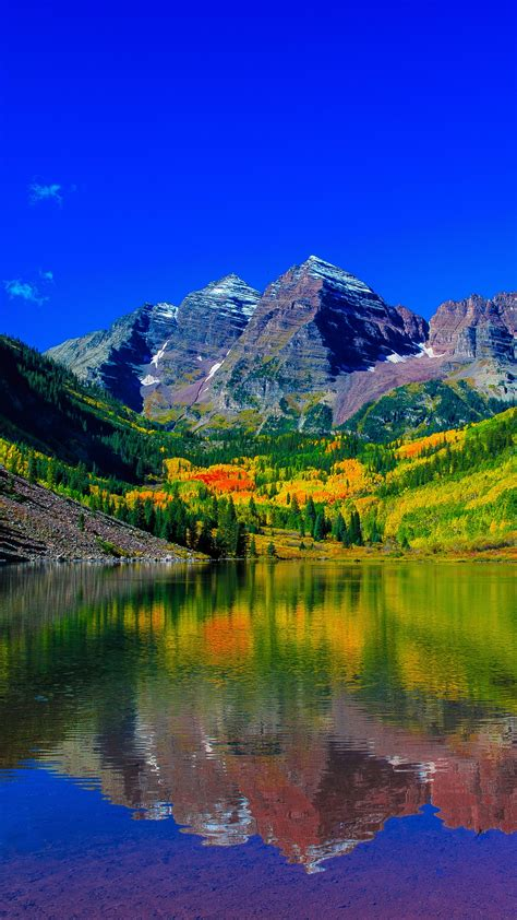 Wallpaper Maroon Bells, Peaks, Elk Mountains, Colorado, 4K