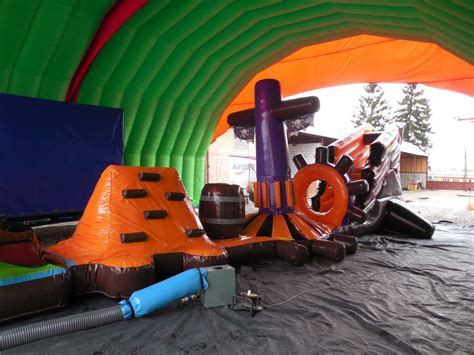 Airquee Inflatables - 16m Ghost Ship with Climbing Wall