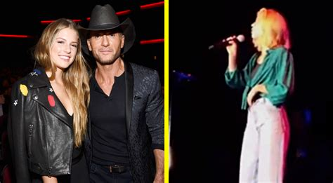 Faith Hill's Daughter Joins Her On Tour & They're