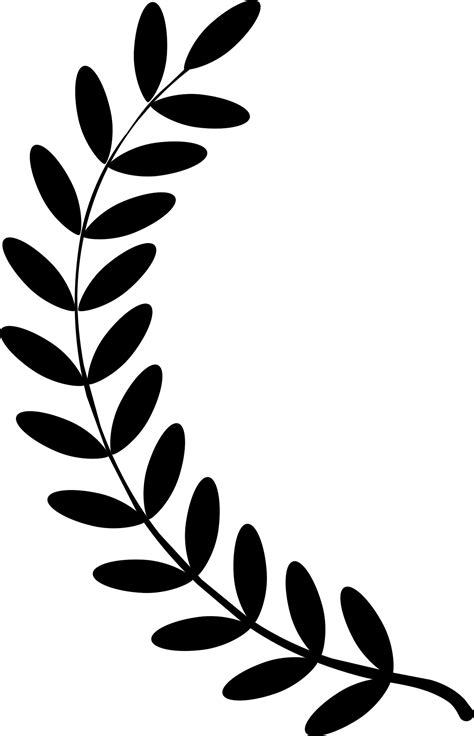 Clipart - Laurel wreath single twig