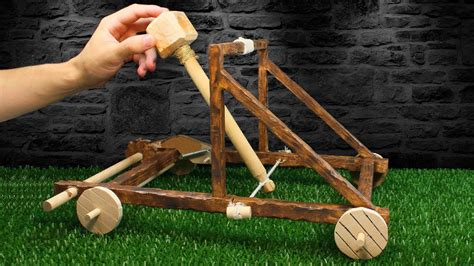How To Make a CATAPULT | Amazing Wooden Catapult - YouTube