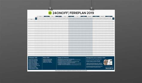 Last ned gratis ferieplan for 2019