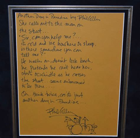 Phil Collins, Another Day In Paradise, hand-signed