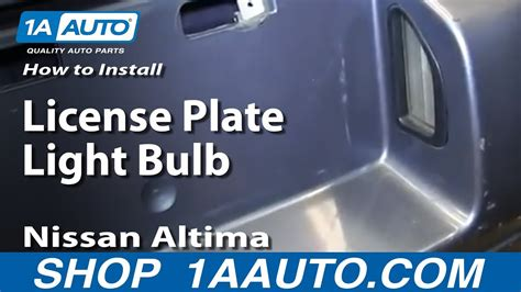 How To Install Replace License Plate Light Bulb 1998