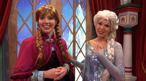 ANNA and ELSA from Disney FROZEN Official Debut at Epcot's