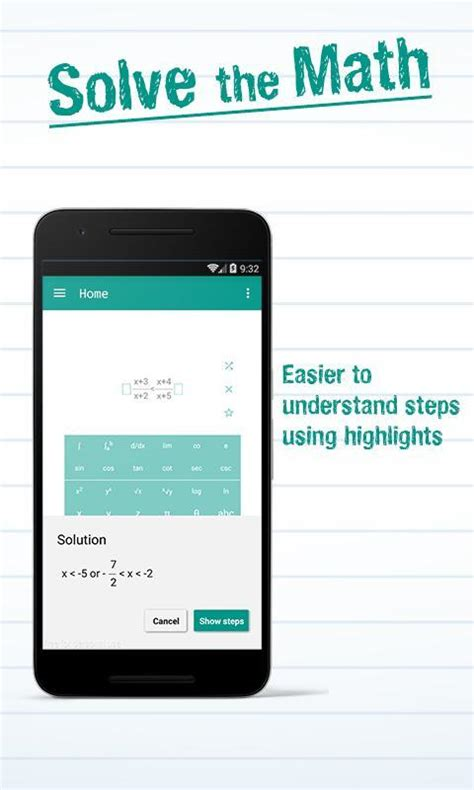 Math Solver with Steps for Android - APK Download