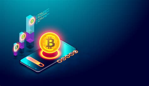 Cryptocurrency bitcoin and Blockchain concept