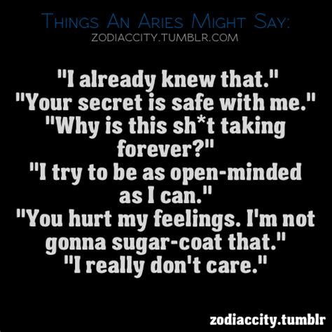 Aries Zodiac Quotes And Sayings