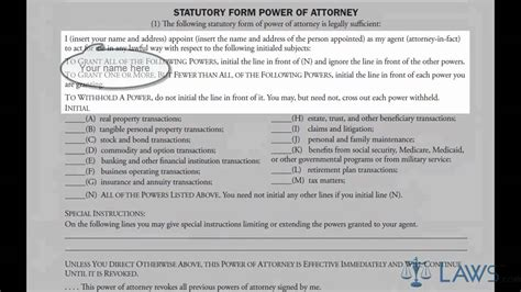 Learn How to Fill the Power of Attorney Form General - YouTube