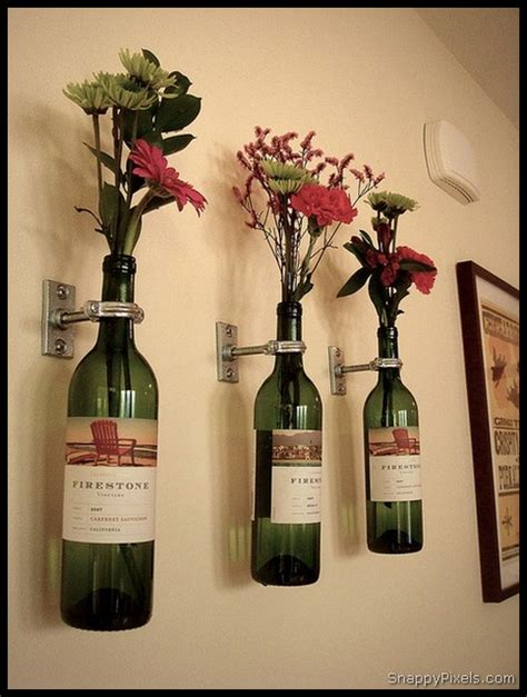 Decorate with DIY Upcycled Wine Bottle Ideas - Snappy Pixels