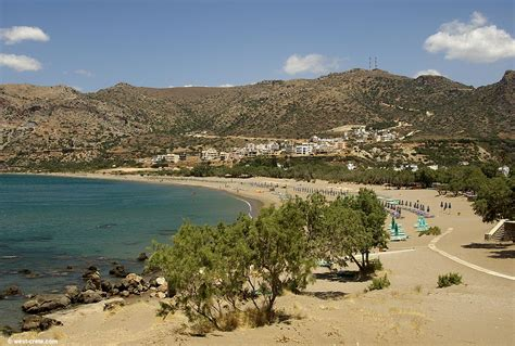 The sandy beach of Paleochora