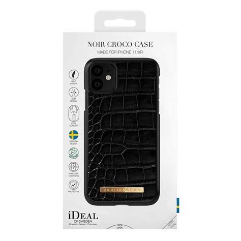iDeal Fashion Saffiano Deksel for iPhone 11 - Noir Croco