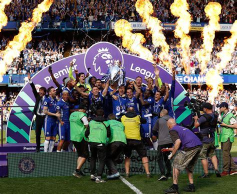 Chelsea lift Premier League trophy: Blues' crazy