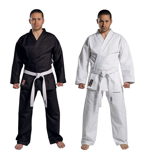 Karate suits in the martial arts shop KWON