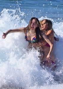 Sophie Dillman and Anna Cocquerel film Home and Away scene