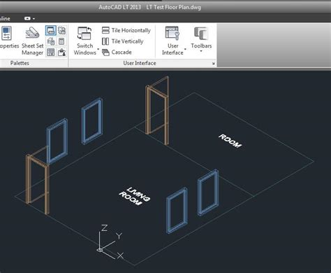 Autocad LT with Autocad Architecture Xref- walls showing