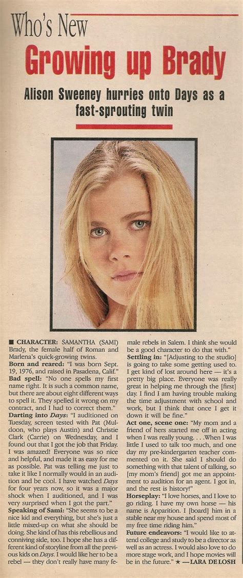 """Alison Sweeney: 20 Years as Sami Brady on """"Days of Our Lives"""""""