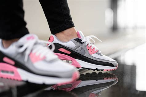 Nike Women's Air Max 90 White/Particle Grey/Rose - CD0490-102