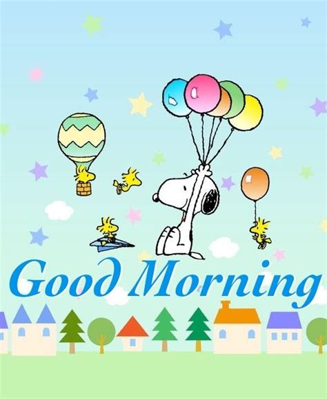 Good Morning - Snoopy, Woodstock, and Friends Flying