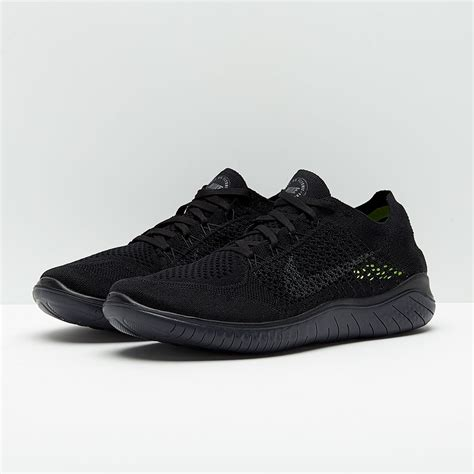 Nike Free Run Flyknit 2018 - Black/Anthracite - Mens Shoes