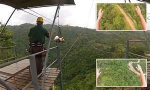Video shows the Guinness World Record winning zip-line in