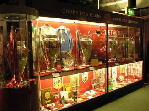 Liverpool FC trophy room - 5 x European Cup