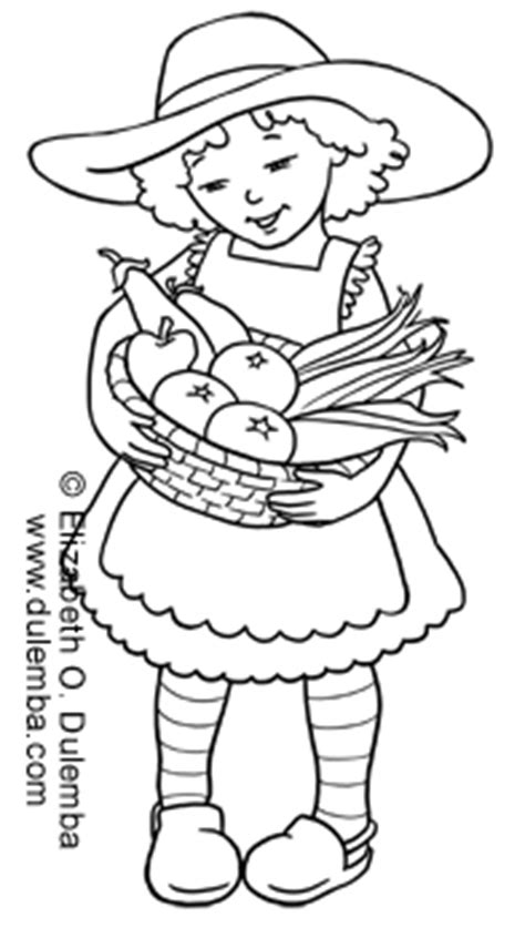 dulemba: Coloring Page Tuesdays - Garden Girl