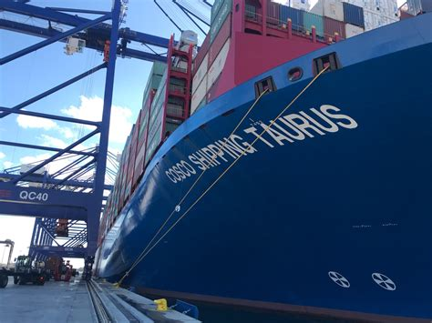 World's Biggest Container Ship Docks in Greece