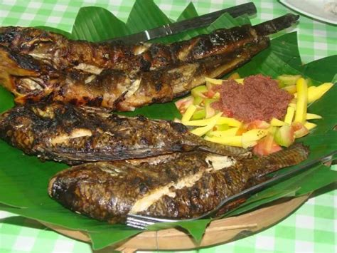 Inihaw na Tilapia at Talong is grilled Tilapia and