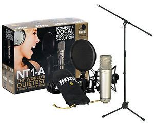 RODE NT1-A Microphone Package with Tripod Base Mic Boom
