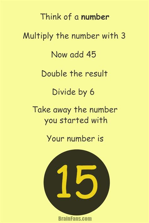 Brain teaser - Picture Logic Puzzle - think of a number