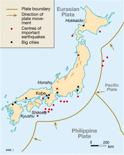 Maps - Plate tectonics, volcanism and earthquakes