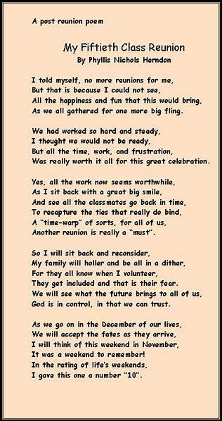 Image result for Class Reunion Deceased Classmates Poems