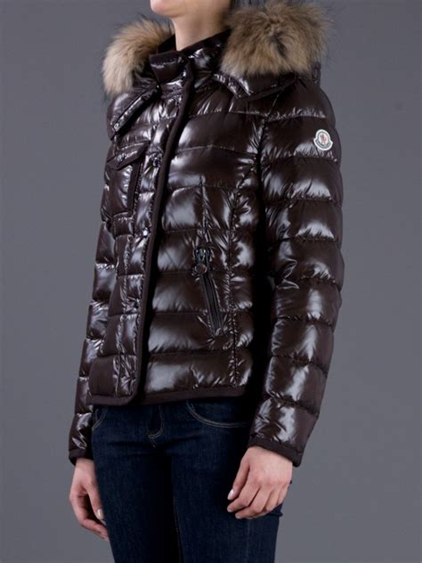 Lyst - Moncler Armoise Padded Jacket in Brown