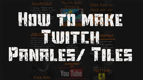 How to make Twitch Panels / Tiles with Gimp or Photoshop