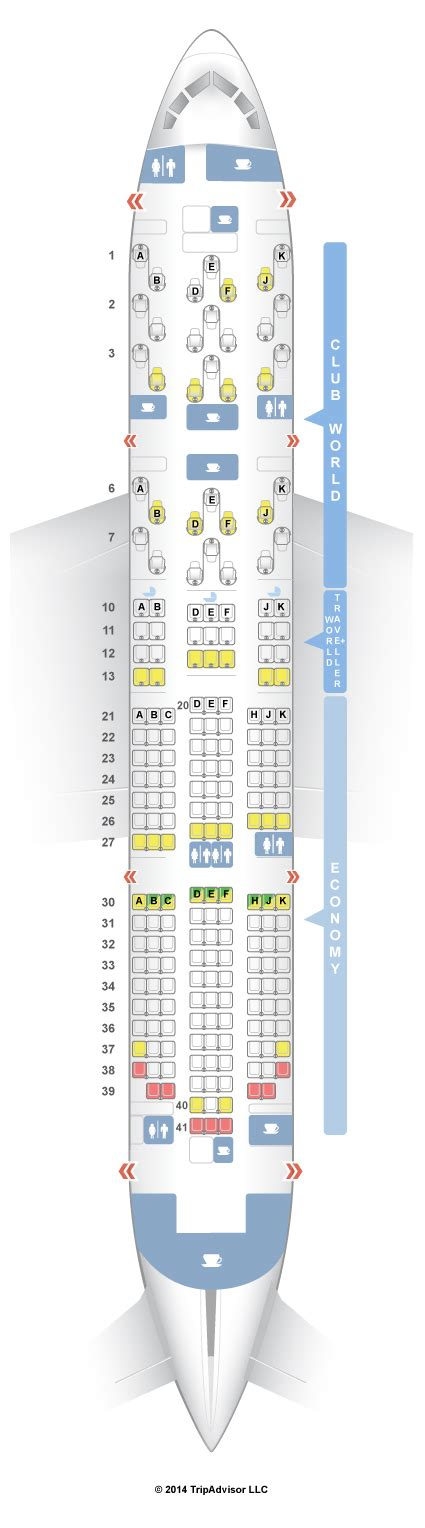 SeatGuru Seat Map British Airways Boeing 787-8 (788)