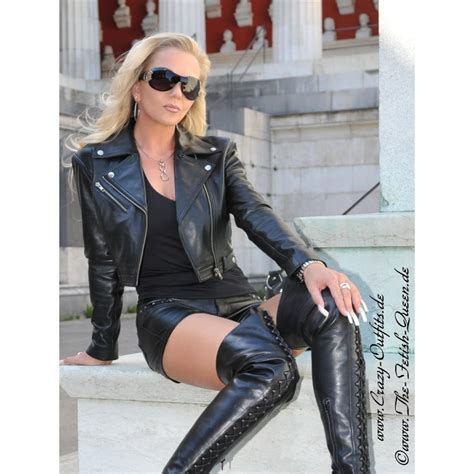 Leather jacket DS-616 : Crazy-Outfits - webshop for