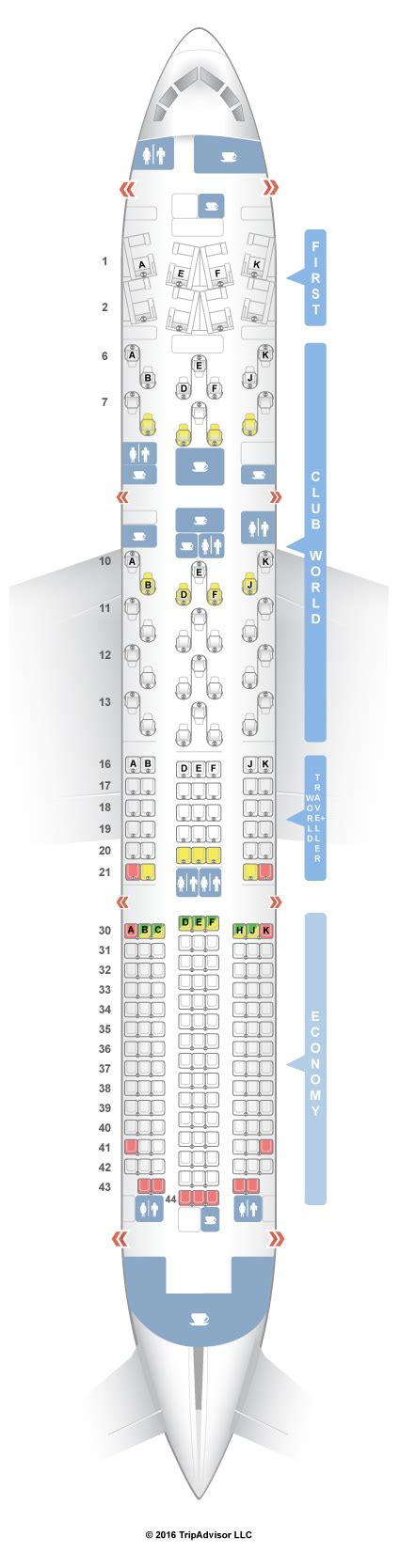 SeatGuru Seat Map British Airways Boeing 787-9 (789)