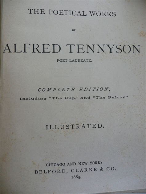 Tennyson's Poems Complete Edition Illustrated Belford; Co