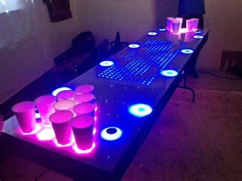 It's an interactive beer pong table - YouTube